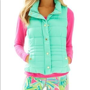 Lilly Pulitzer Isabelle Puffer Vest Size XL
